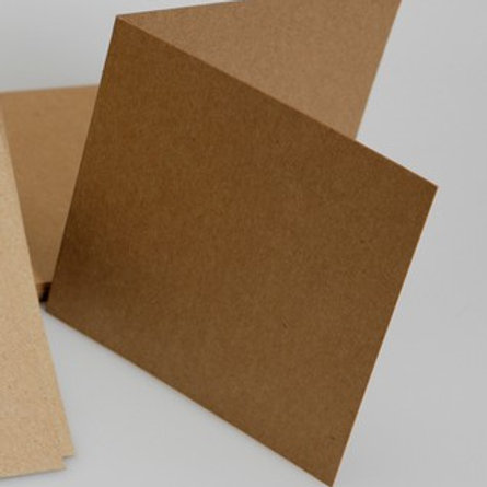 square kraft brown cardmaking blanks