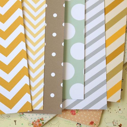 set 03 retro autumn mix printed card stock