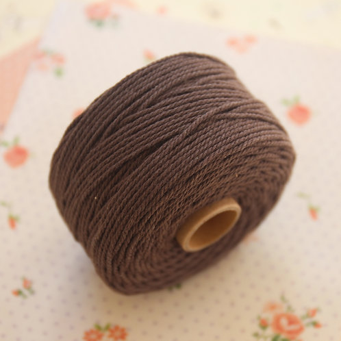 coffee brown twisted cotton bakers twine 80m