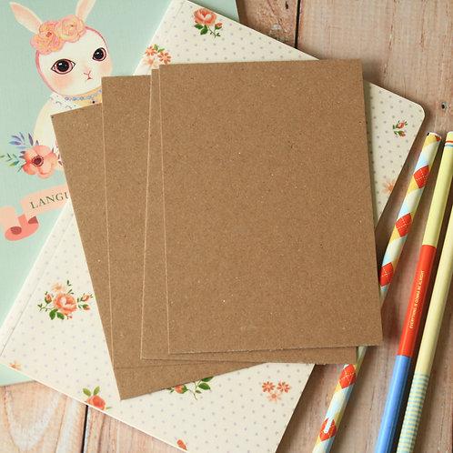 plain kraft brown eco postcard blanks