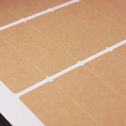 4 x 1 3/4 inch kraft paper sticker label sheets