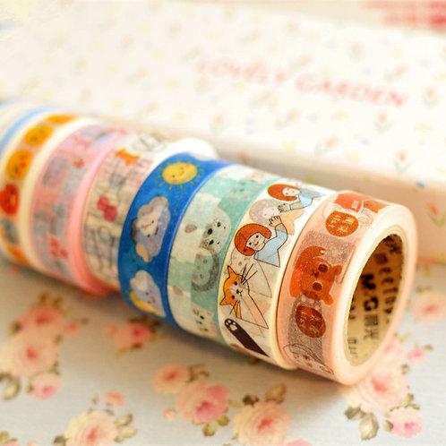 meetape cartoon deco washi tapes