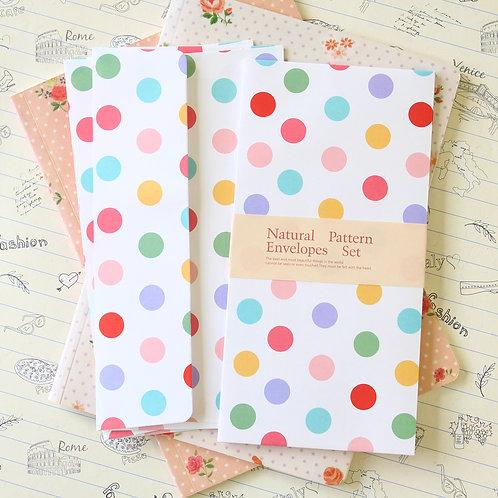 polka dots white natural pattern envelopes