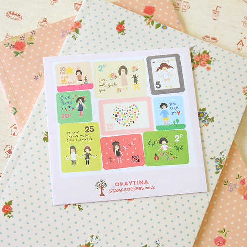 okaytina cartoon stamp stickers ver 02