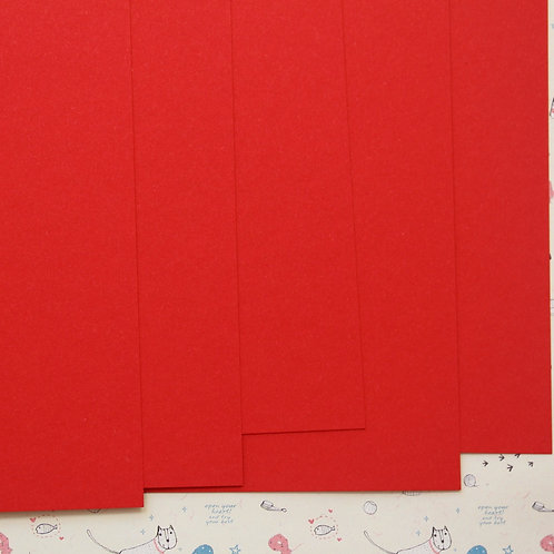 bright red colorset card stock