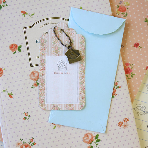 love letter charm and scallop gift tag