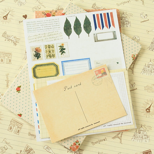 livework vintage style postcards & envelopes set