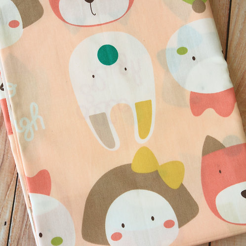 allo & lugh cartoon cotton fabric