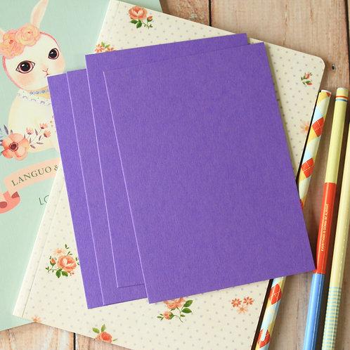 amethyst purple eco postcard blanks