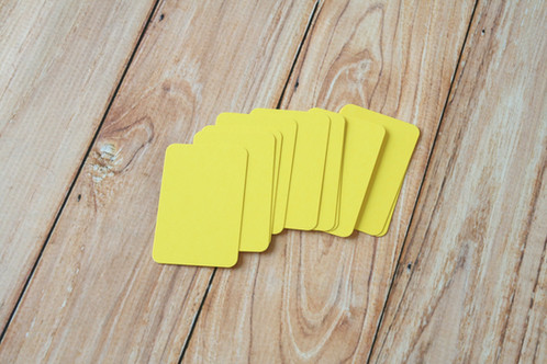 Lemon yellow blank business cards lemoncat shop get cute very eco friendly these are ready to use for customized stamped business name cards hang tags mini post cards or reheart Choice Image