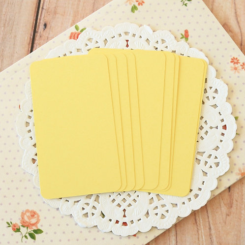 sunlight yellow blank business cards