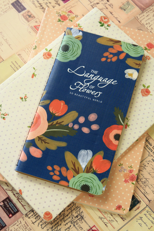 Language of flowers kraft paper cartoon notebook lemoncat shop small sized notebook blank kraft brown paper pages for easy writingsketching comes paper bound with an illustrated cartoon cover mightylinksfo