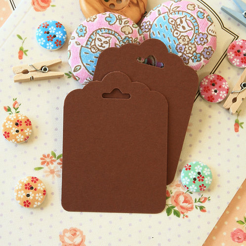 chocolate brown ornate scallop tags