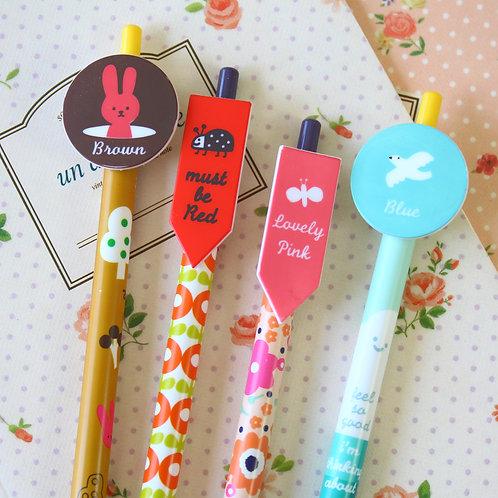 toffeenut cartoon clicker pens