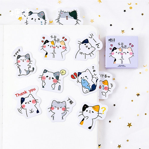 cat love candy poetry cartoon cute shapes stickers