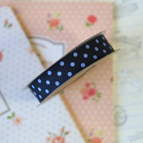 jane means black & white polka dot ribbon