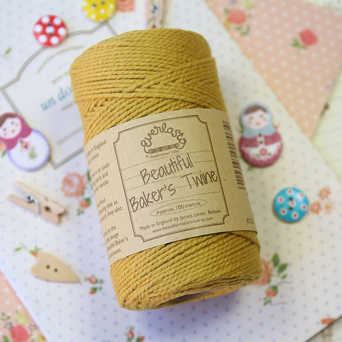 york gold everlasto solid colour bakers twine