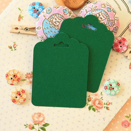 holly green ornate scallop tags