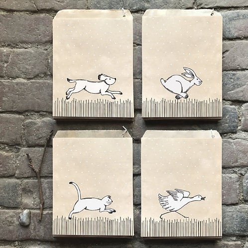 east of india running animals small paper bags