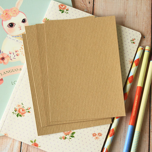 rippled kraft brown eco postcard blanks