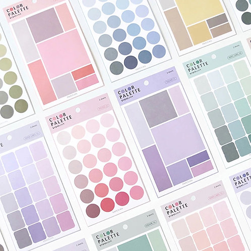 color palette deco stickers