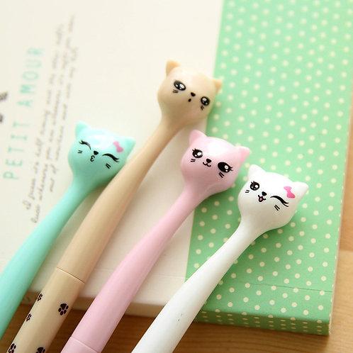 cute little cat cartoon pens