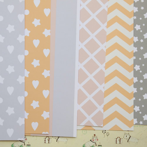 set 02 baby shower mix printed card stock