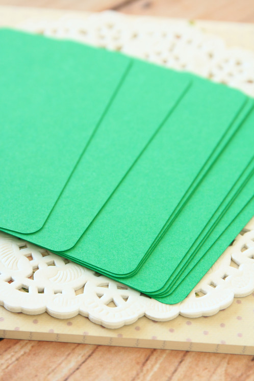 Emerald green blank business cards 50pc round corner business card blanks made from 100 british made acid free card stock has a smooth and uncoated surface ideal for rubberstamping or reheart Gallery