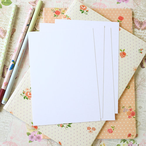 ice white pearlescent postcard blanks