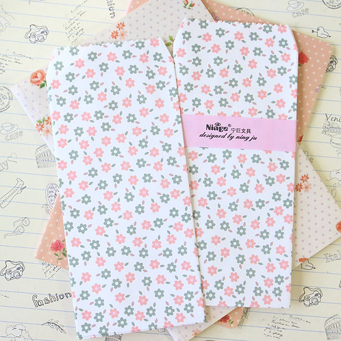 flowers natural pattern tall envelopes