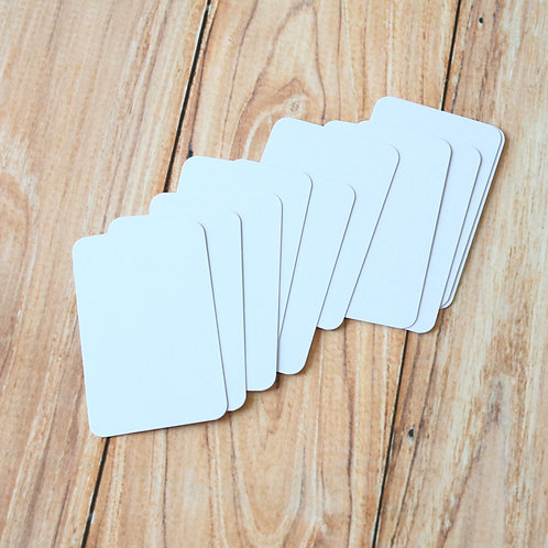 pale lilac blank business cards