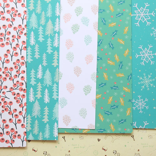 set 08 holiday patterns mix christmas printed card stock