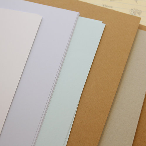 recycled natural plain color card stock