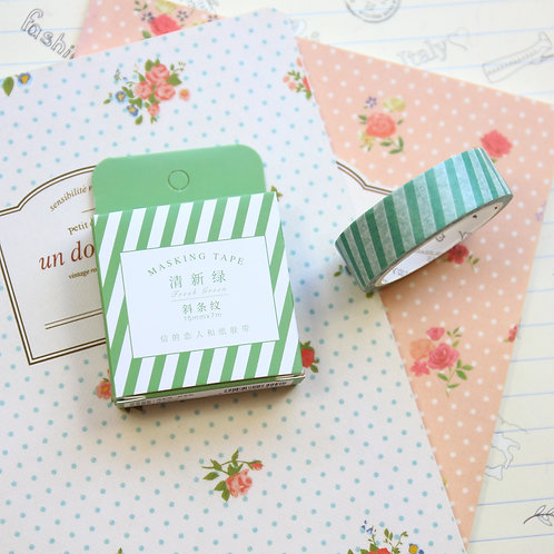 green stripes cardlover simple series washi tape