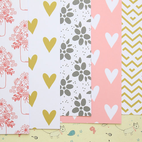 set 02 country charm mix patterns printed card stock