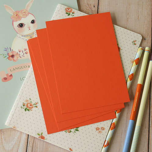 mango orange eco postcard blanks