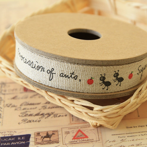 procession of ants cartoon cotton sewing tape ribbon