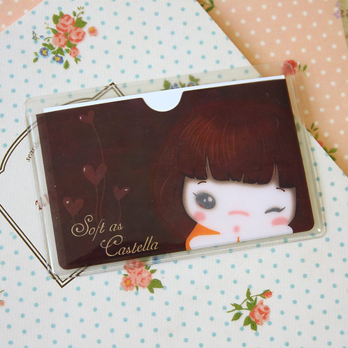 cookys girl choco cartoon card pocket holder