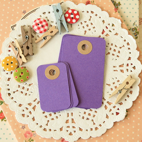 orchid purple rounded rectangle tags