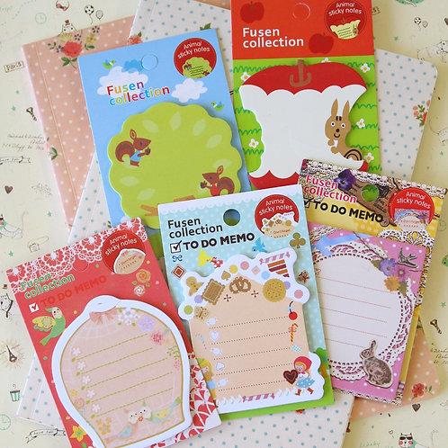 fusen collection to do memo cartoon sticky notes