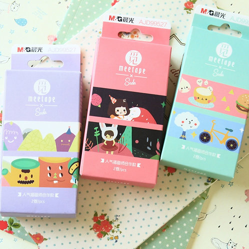 meetape soda cartoon deco washi tape set