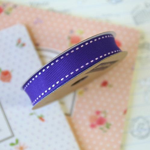 jane means purple stitched grosgrain ribbon