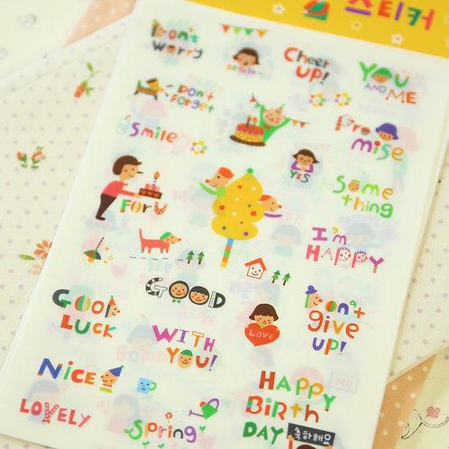 minzzang cartoon stickers