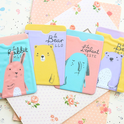 sweet animals cartoon card holder