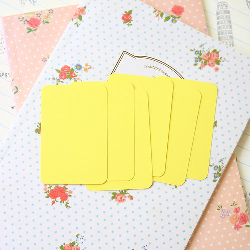 daffodil yellow papermill colour blank business cards