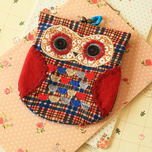 hamish ditsy owl vintage floral clasp purse