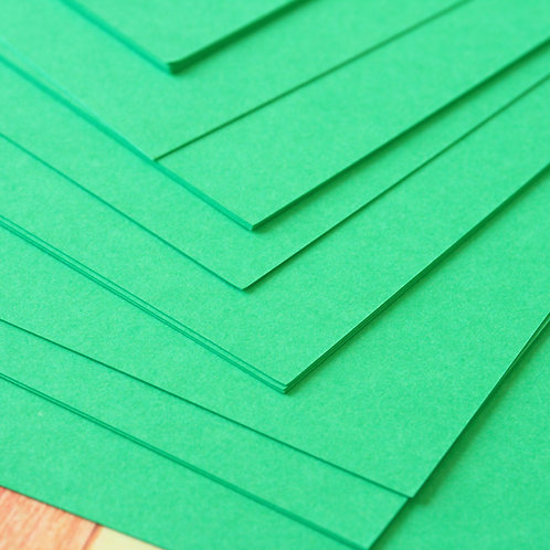 emerald green craft style cardstock
