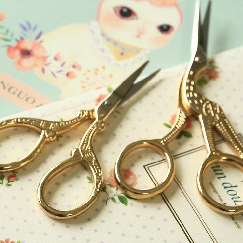 gold effect antique style scissors