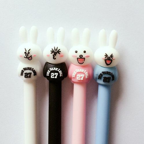 sporty rabbit cute cartoon pen