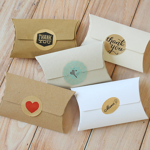 mix set no glue small pillow boxes